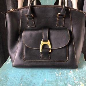 Dooney and Bourke Black Leather Satchel